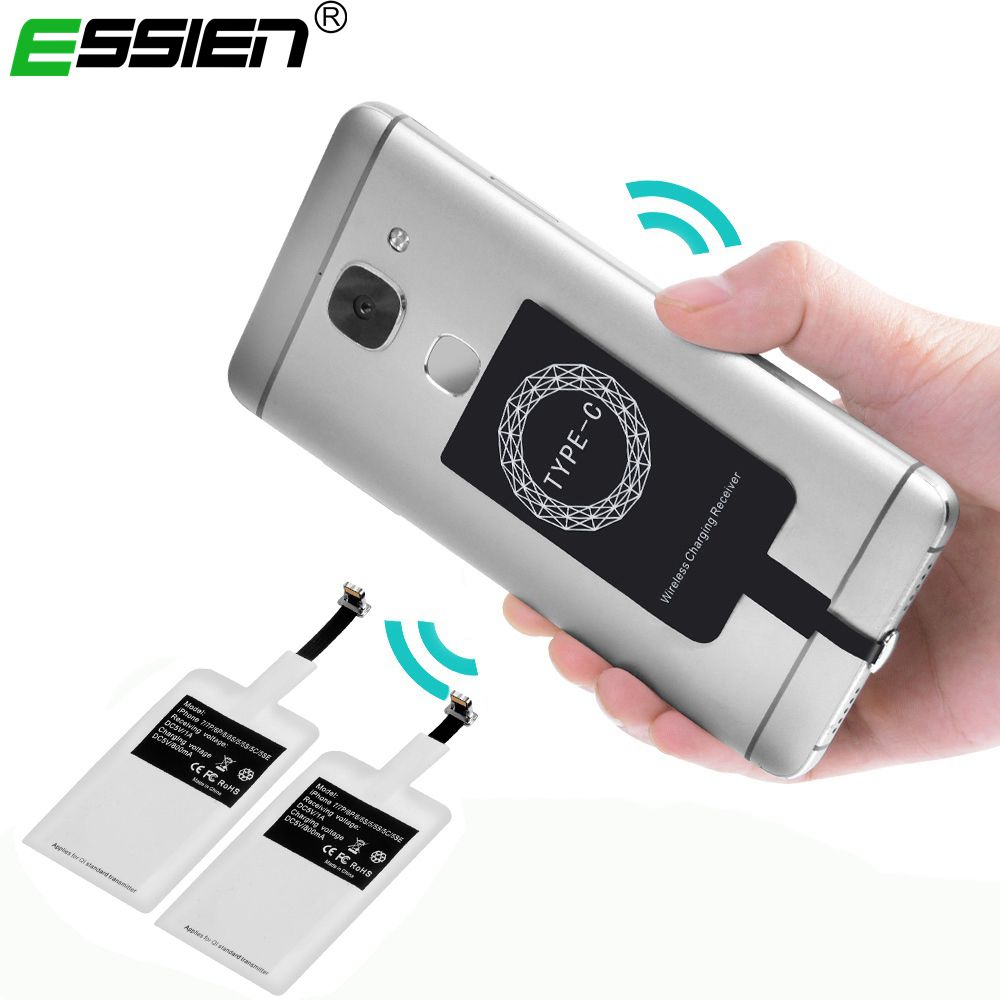 Essien Universal Qi Wireless Charger Receiver For iPhone 5 5S 7 6S 6 Plus Pad Android Micro USB