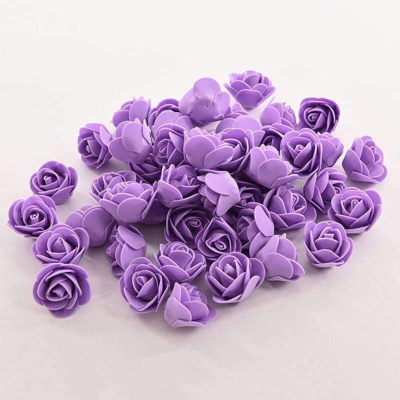 Новый 50 шт. мини pe поддельные цветы Пена Роуз Искусственные цветы для свадьбы автомобилей украшение партии DIY помпоном венок декоративный y6
