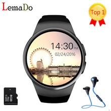 [Auténtica] KW18 LEMFO Bluetooth reloj inteligente de pantalla completa Apoyo TF Tarjeta SIM Smartwatch Teléfono s2 huawei de Ritmo Cardíaco para el equipo de manzana