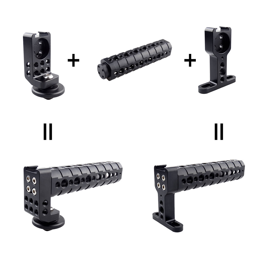 MAGICRIG Free Use of Top Cheese Non-slip Handle Grip and Shoe Handle with Cold Shoe Base for DSLR Camera Cage Stabilizer Handle цена