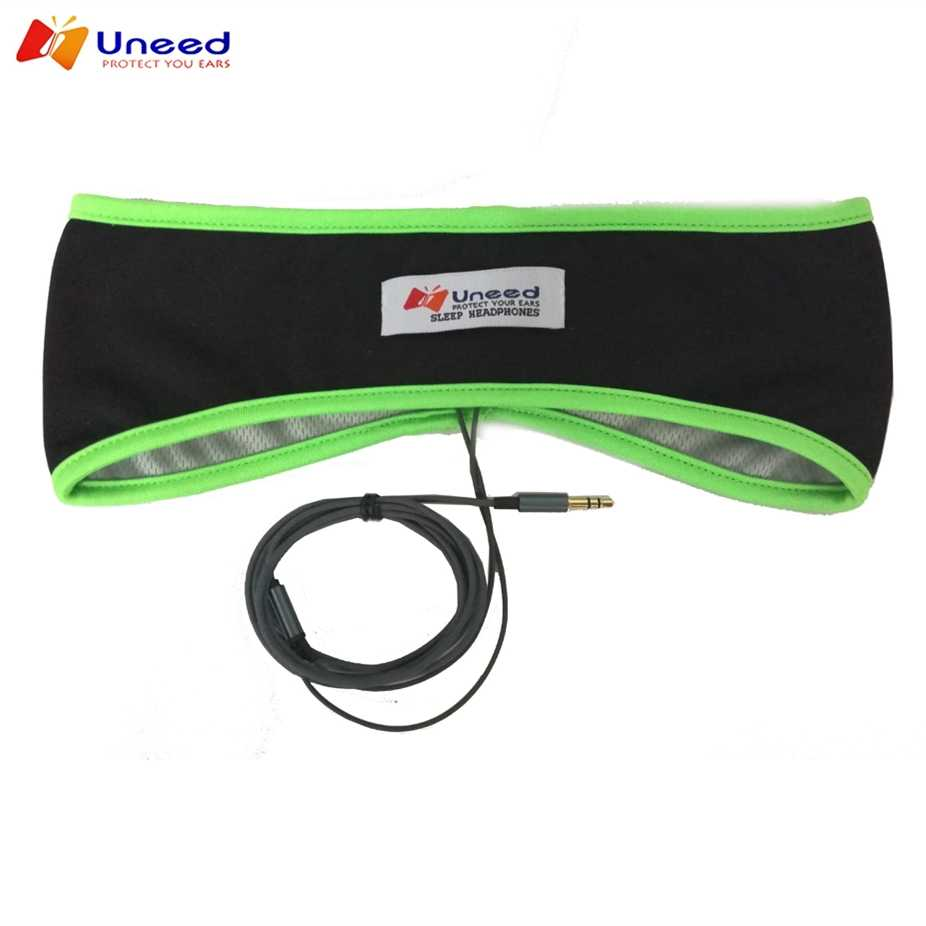 Uneed Comfortable Sleeping Headphone Thin Sweatproof Sports Headband With Lycra Speakers Also sleeping Mask