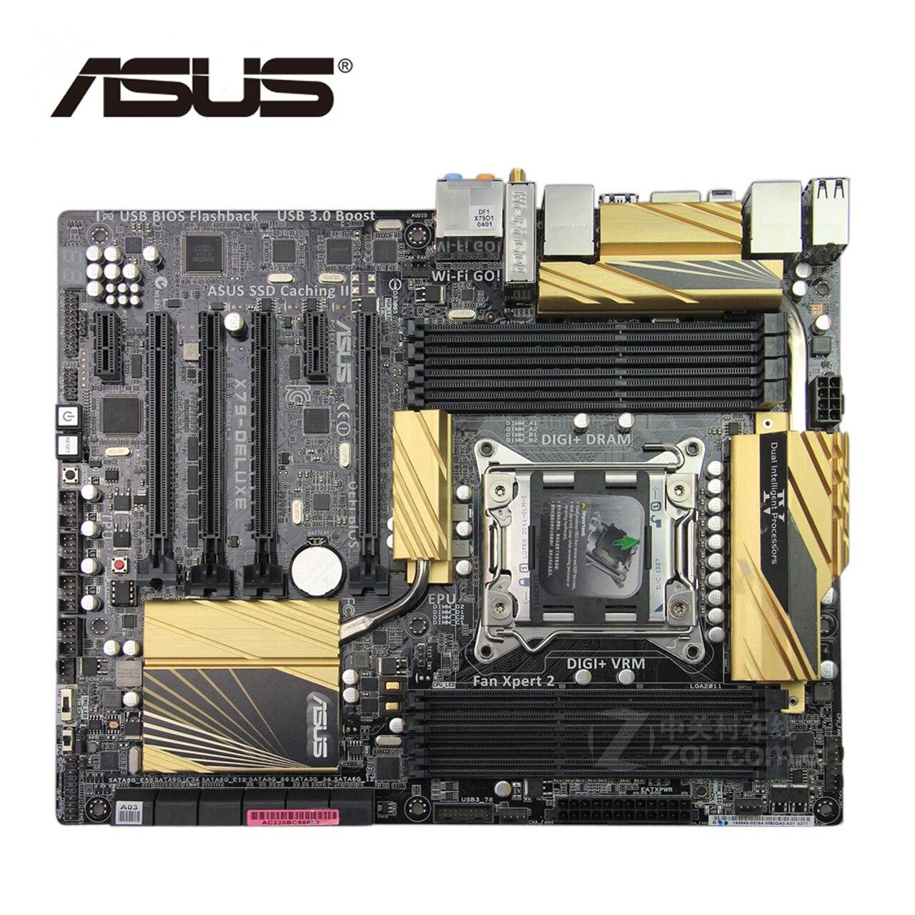 100% Nouveau!!! LGA 2011 DDR3 Pour ASUS X79-DELUXE Nouvelle Carte Mère D'origine 64G Carte Mère SATA III Systemboard Pour Intel X79 DELUXE
