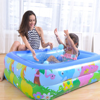 MrY New Children Home Use Paddling Pool Large Size Square Safety frame Swimming Pool Heat Preservation Kids inflatable Pool