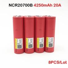 цена на Discharge Battery ncr20700 100% Origina Turmera 20700 battery mod ncr20700b 20A 4250mAh with 20A Battery for Vape Mod 8PCS oct10