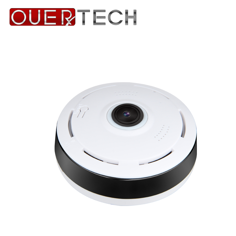OUERTECH Full view 360 Degree Night vision real time Panoramic 1080P VR 360 WIFI Smart IP Camera support 64g app v380 image