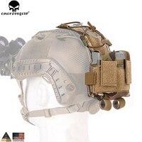 EMERSONGEAR MK2 чехол для аккумулятора для шлема тактический Чехол для шлема Охотничьи аксессуары ночной чехол для шлема мультикам черный em999
