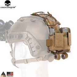 EMERSONGEAR MK2 Baterai Kasus untuk Helm Helm Taktis Pouch Berburu Aksesoris Malam Pouch Tas Helm Multicam Hitam EM9399