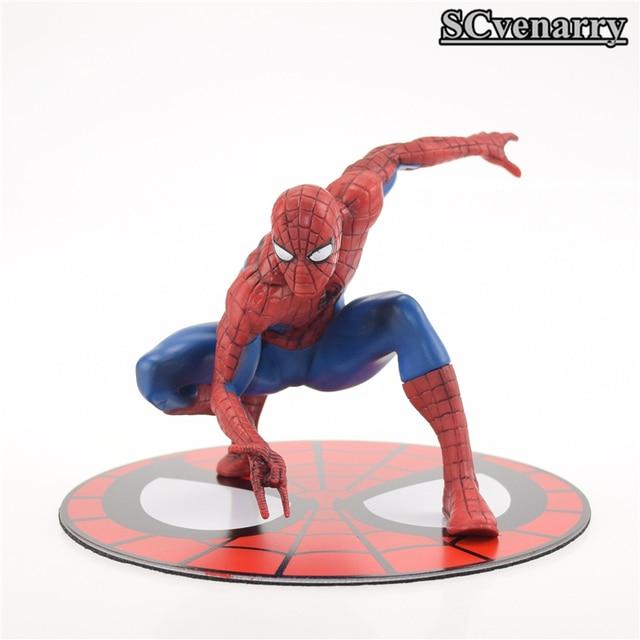DC Comics SpiderMan Superhero Metal magnet base PVC Action Figure Collectible Model Toy 11CM