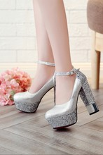 Bling Upper Pumps Shoes Women High Heels Sexy Party Wedding Bride Shoes Woman