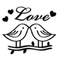 LOVE BIRDS Resin Handmade Soap Stamp Seal Soap Mold Mould