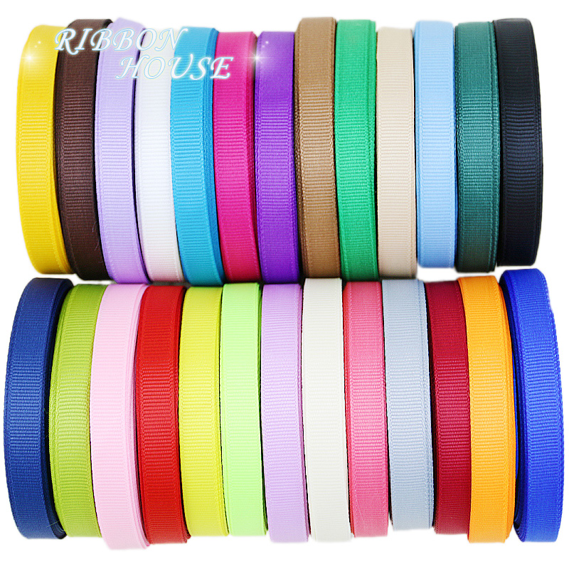 (10 meters/lot) Grosgrain Ribbon Wholesale gift wrap decoration Christmas ribbons lace (10/12/15/20/25/40/50MM)(China)