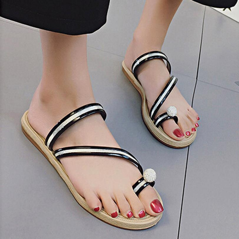 mokingtop women Summer sandals Women Flip Flops slippers Flat Sandals Summer Beach Casual Shoes