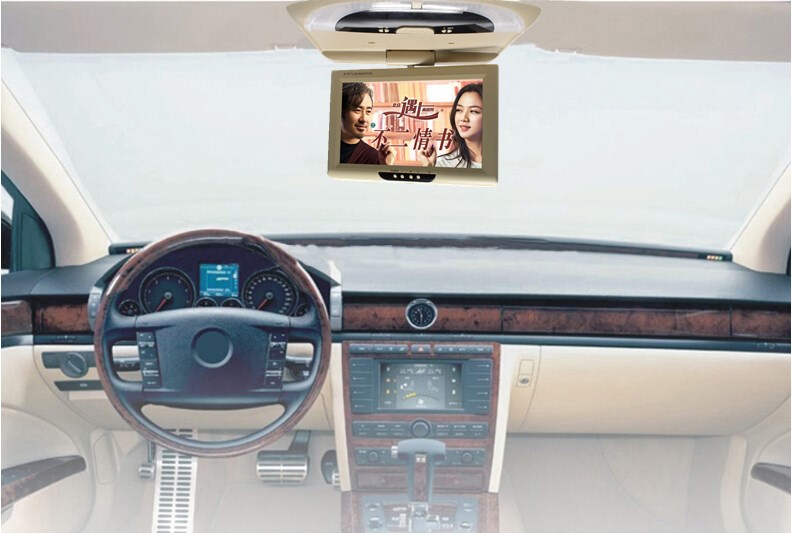 9 inches TFT LCD Flip Down Monitor Car Roof Mounted Monitor dual video input Monitor Auto Ceiling Monitor Overhead Monitor 981-2 9 inch flip down tft lcd monitor 12v car monitor beige car roof mounted monitor car ceiling monitor with 2 video input