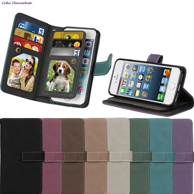 the latest 6b417 261a5 Retro Matte 9 Card Slot Phone Hoesjes Case For SAMSUNG Galaxy Note 3  SM-N9005 N9002 Note3 Book Flip Covers TPU Capa Full Housing