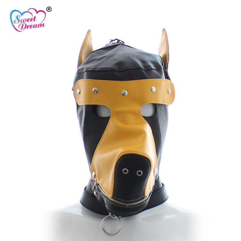 Sweet Dream PU Leather Dog Shape Masks/Hoods Role Play Adult Game Sex Accessories Sex Tools for Sale Sex Toys for Couple DW-450