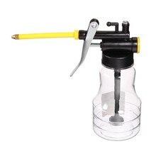 Давление 250cc прозрачный длинным клювом машина масленка бутылки ручной смазки Инструменты Пластик Корпуса масла смазки