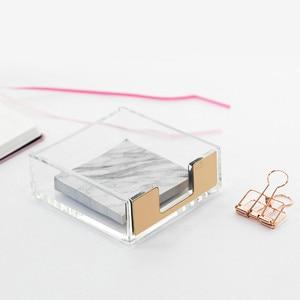 Image 2 - Caja de almohadilla multifunción Estilo nórdico, estante de escritorio transparente, acrílico, creativo, soporte de exhibición, papelería de oficina