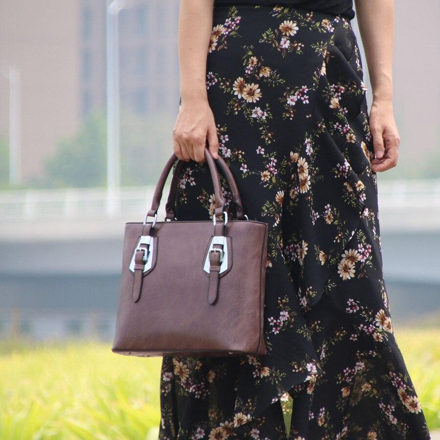 Fashion Retro Designer Women Leather Bag\Handbag 2018 New ladies' OL Tote Bag ~Quality Guaranteed~17B5 waterproof flowers blossom bathroom shower curtain