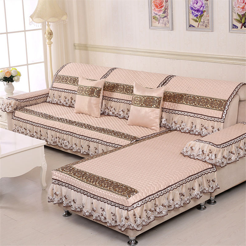 Surprising Us 14 54 41 Off Waterproof Quilted Sofa Covers Lace Embroidered Luxury Sofa Skirt Suitable For Living Room Sofa Decoration A Variety Of Styles In Uwap Interior Chair Design Uwaporg