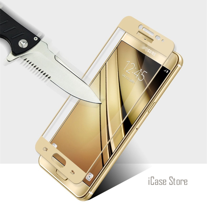 Full Screen Protection Tempered Glass For Samsung Galaxy S7 C5 C5000 C7 C7000 Screen Protector Film 9H Hardness Explosion Proof