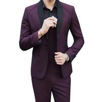 Spring men Suit Brand Mens Suits Wedding Groom Plus Size S 5XL 3 Pieces(Jacket+Vest+Pant) Slim Fit Casual Tuxedo Sets Male