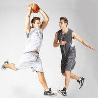 Reversible men basketball training jersey set blank college team tracksuit breathable basketball jerseys set uniforms customized