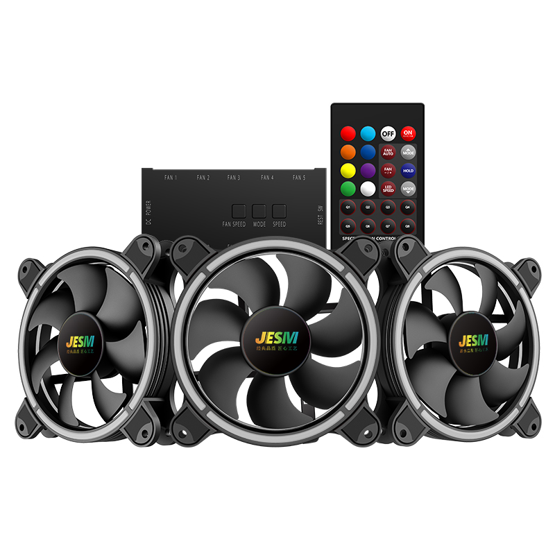 Original JESM AURA J3 pc rgb fan Chassis 12CM water Cooling cooler cpu fan Multi Mode Color Aurora heatsink cooler master free delivery original afb1212she 12v 1 60a 12cm 12038 3 wire cooling fan r00