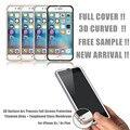 Protector de pantalla frontal transparente para iphone 6 cubierta de vidrio templado completo curva 3d borde titanium para iphone 6 6 s 7 7 plus vidrio