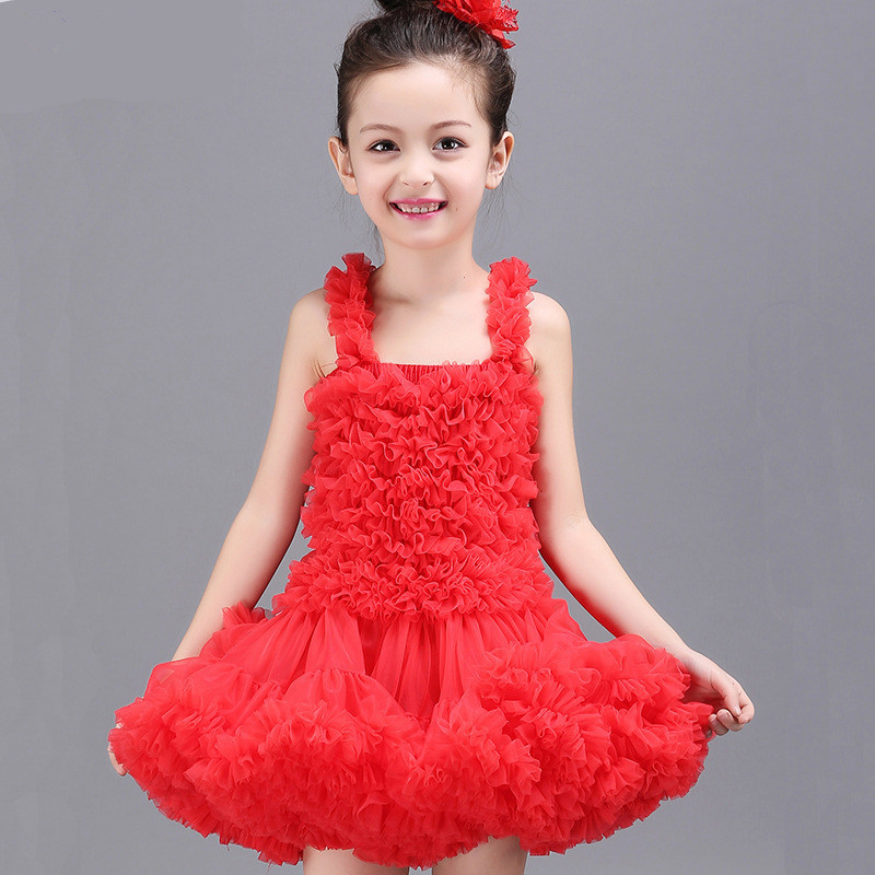 Baby girls dress birthday party princess fluffy tutu dresses girl