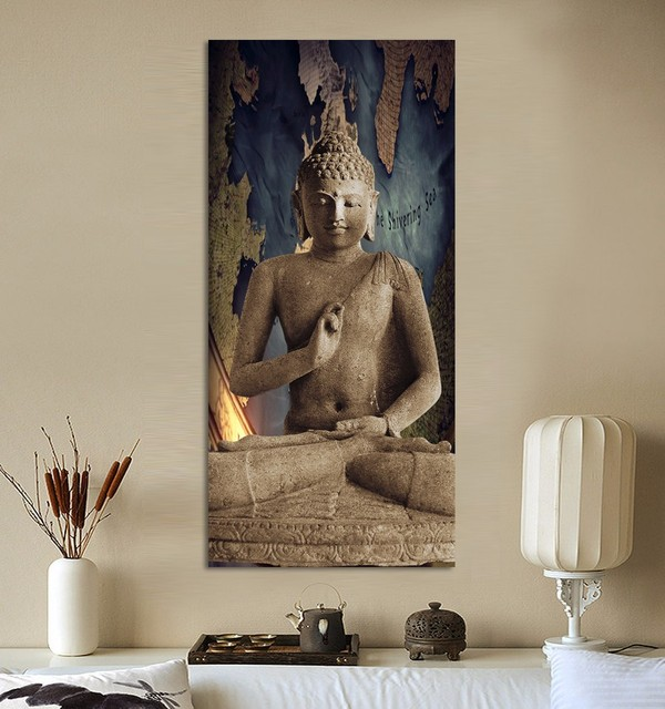 Buddha Wall Decor aliexpress : buy canvas oil painting huge buddha wall art