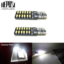 2pcs/Lot t10 led canbus T10 24led 3014 smd LED No OBC Error 194 168 W5W T10 24smd canbus LED Interior Instrument Light bulb стоимость