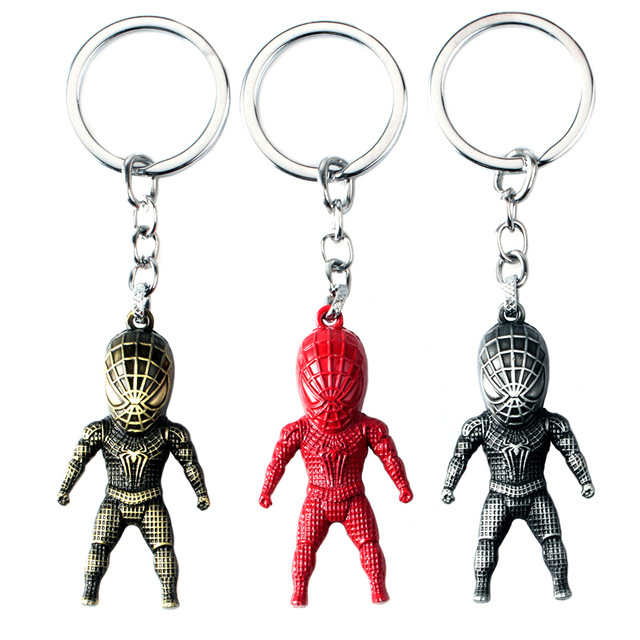 Hot Movie Spider-Man Batman 3D Model Keyring Marvel Alloy Key Holder Charm Limited Souvenir Gift Chaveiro drop-shipping