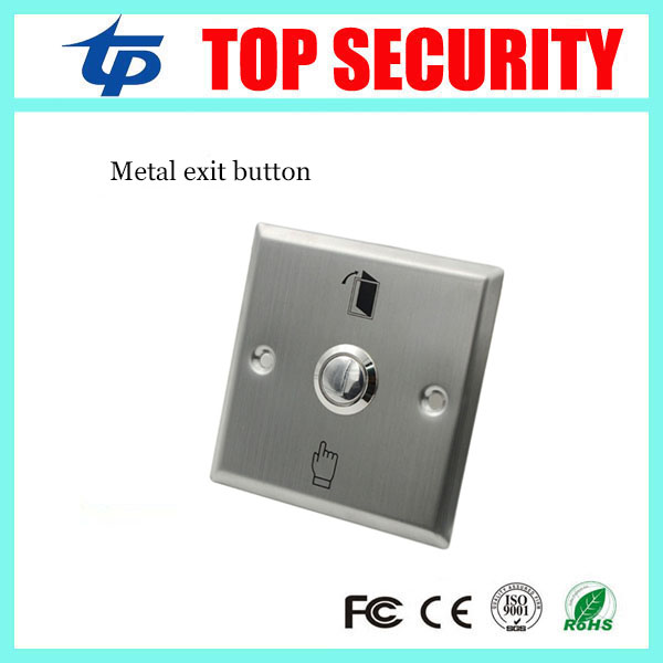 Good quality metal exit button release button exit switch good quality with NO and COM wholesale exit original pio 32dm pci no 7166 selling with good quality