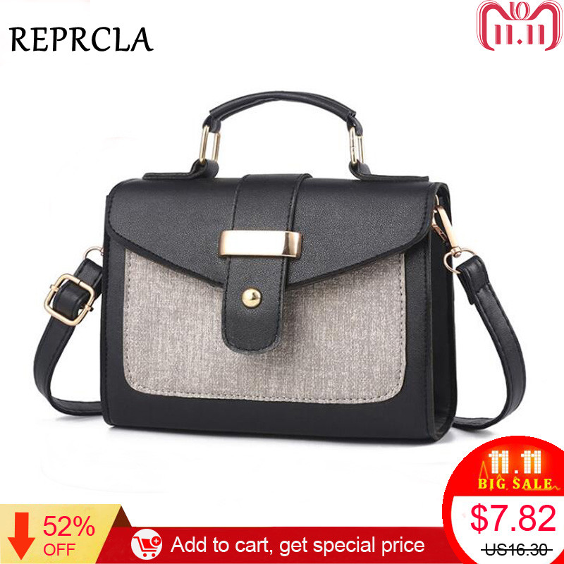 REPRCLA 2018 Fashion Shoulder Bag Leather Handbag Small Flap Women Messenger Bags High Quality PU Crossbody Bags Ladies Purse aelicy cute dog shape children shoulder bag fashion girl shoulder messenger bags baby pu leather ladies crossbody bags small