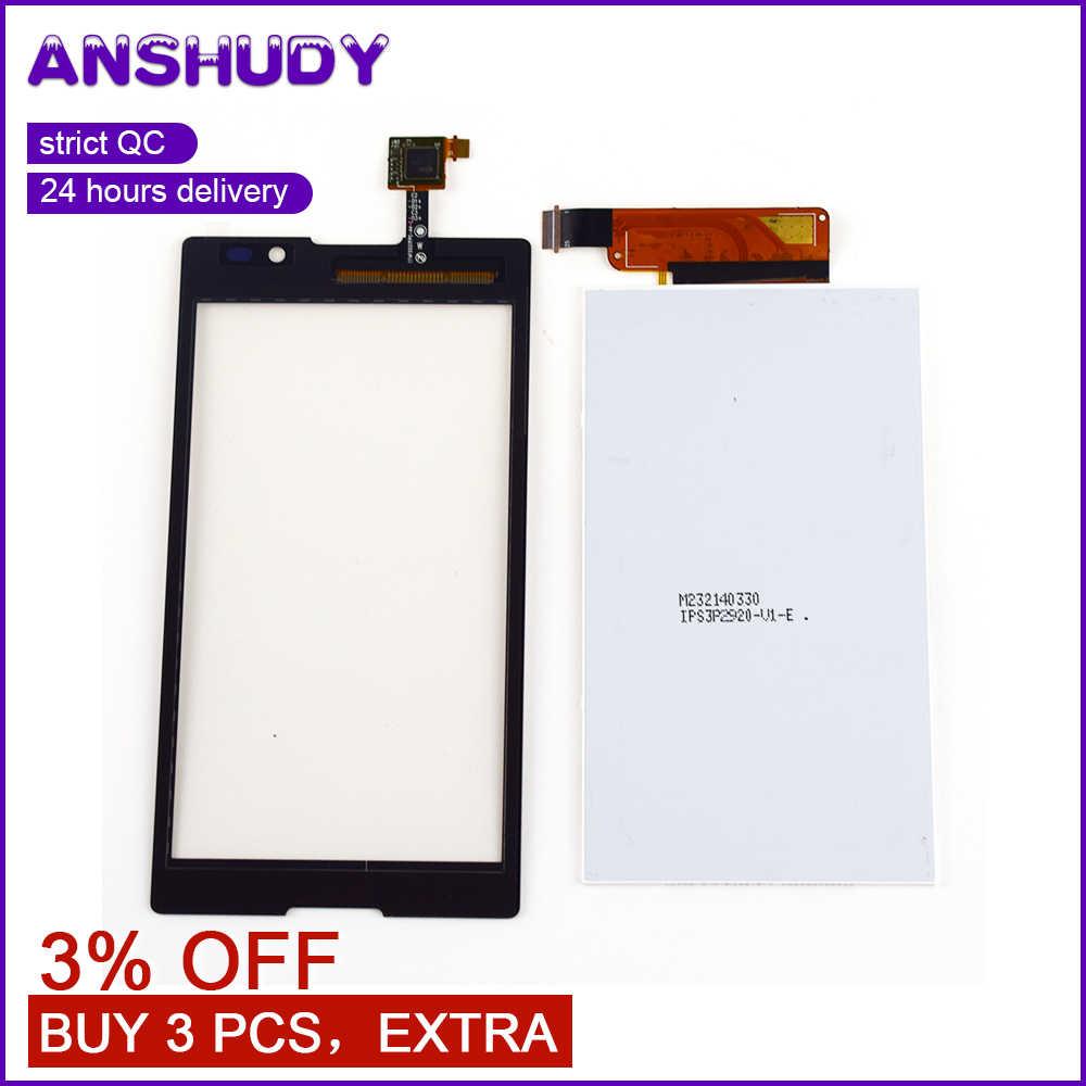 Untuk Sony Xperia C S39h C2304 C2305 Sentuh Layar Digitizer Sensor Kaca + LCD Display Panel Monitor