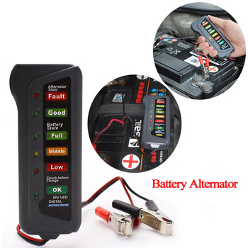 40^12V Car Battery Tester Auto System Analyzer Automotive Alternator Cranking Check Digital Alternator Tester For Car image