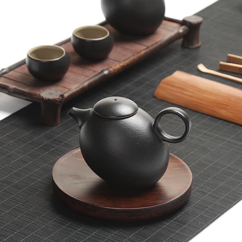 Kreative schwarze Keramik Teekannen handgemachte Vintage Keramik - Küche, Essen und Bar - Foto 2