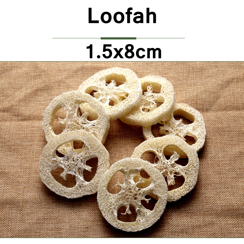 100pcs lot 8CM large size Natural Loofah Luffa sponge DIY customize cleanner soap tools dish sponge