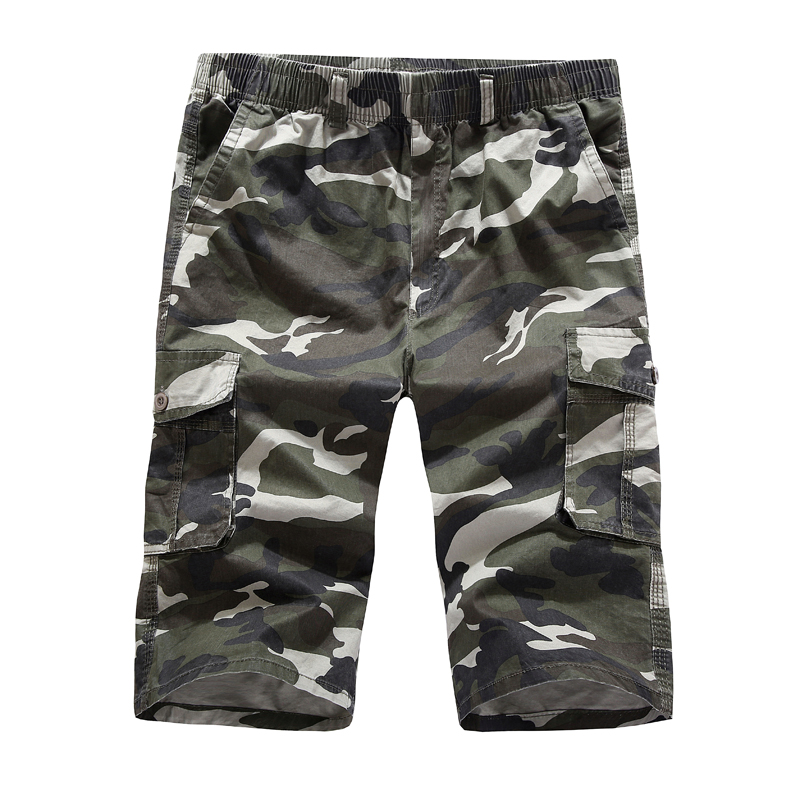 Camouflage Camo Cargo Shorts Men 2018 New Mens Casual Shorts Male Loose Work Shorts Man Military Short Pants Plus XL-5XL