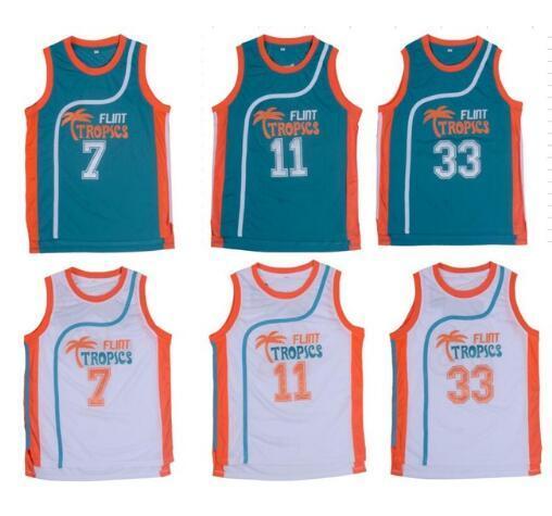 e852c6b29ccc Stitched Basketball Jersey Movie Semi Pro Flint Tropics Jackie Moon 33   Coffee Black 7  Ed Monix 11  Throwback Jersey Viva Villa-in Basketball  Jerseys from ...