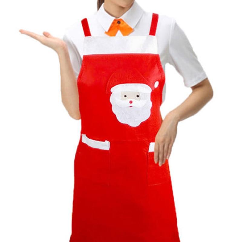 Christmas Novelty Kitchen Santa Claus Slim Apron BBQ Costume Xmas Present Gift
