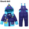 Baby boy girl winter clothing set suitable 10-24 month duck down snow wear children's winter  jumpsuit for infant down & parkas