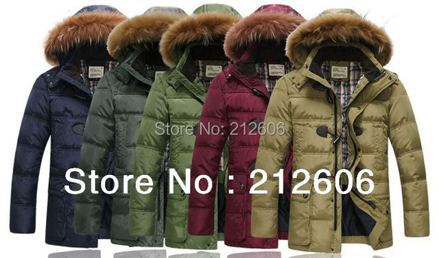 2013 New Fashion Brand Down Jacket Men's Winter Warm Coat 90% White Duck Down Outwear Waterproof Windproof Hooded Men's Parka