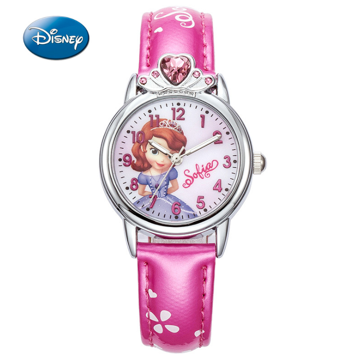 100% Genuine Disney Brand Watches Frozen Sophia Minnie Watch With Necklace Fashion Luxury Watch Men Girl Wrist Watch 2018 New Watches