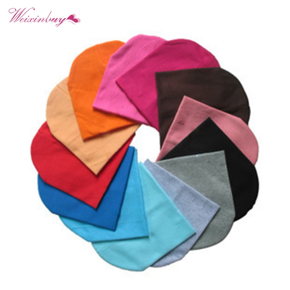 22 Colors Unisex Infant Soft Crochet Newborn Baby Boy Girl Hat Cotton Beanie Warm Cap Candy Color