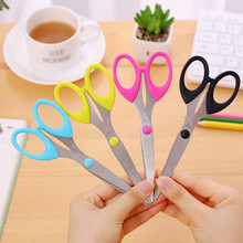 Coloffice 1P Creative Multi-Function Candy Color Scissors Student DIY Pointed Artist Used A Paper-Cut Office School Supplies
