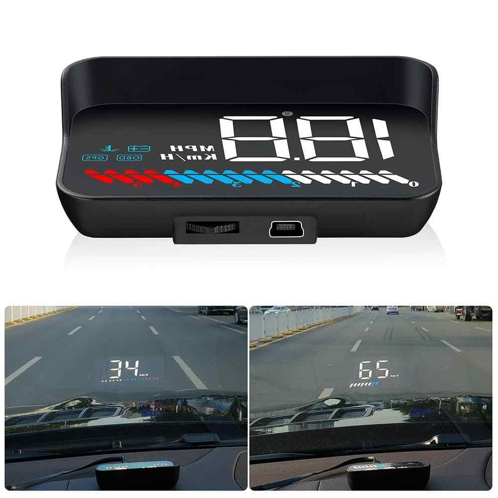 سيارة OBD2 هود GPS عداد السرعة M7 رئيس متابعة العرض OBD الزجاج الأمامي العارض الرقمية سرعة الإسقاط مع الشمس هود قوس