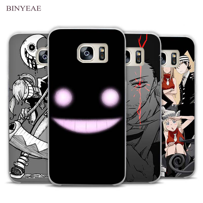 BINYEAE Soul Eater Anime Head Transparent Phone Case Cover for Samsung Galaxy S3 S4 S5 S6 S7 S8 Edge Plus Mini