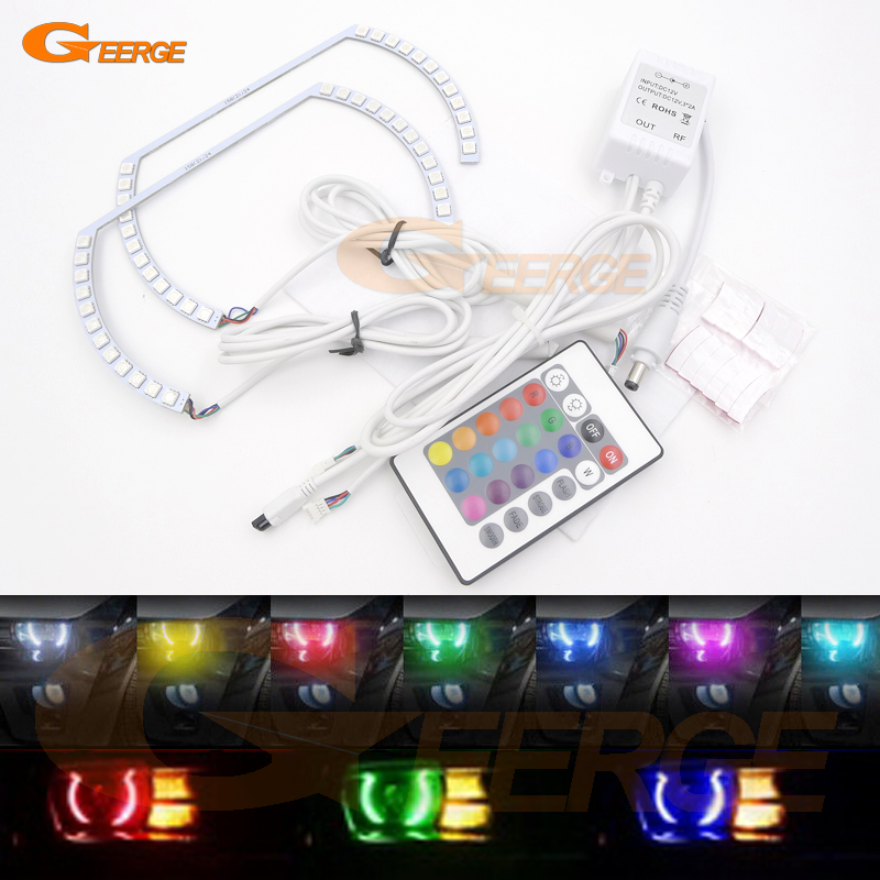 For Chevrolet Chevy Camaro 2010 2011 2012 2013 Excellent ( ) style Angel Eyes Multi-Color Ultra bright RGB LED Angel Eyes kit for lifan 620 solano 2008 2009 2010 2012 2013 2014 excellent angel eyes multi color ultra bright rgb led angel eyes kit