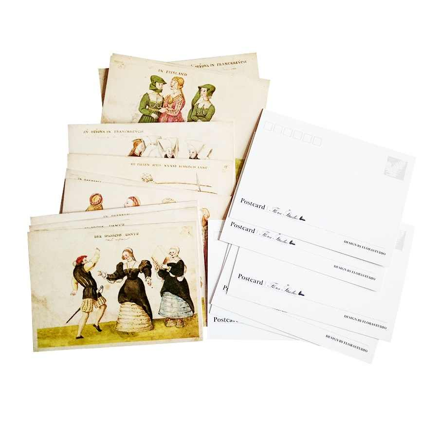 16 Pcs/lot Vintage Ancient Human's Life business cards Postcard Greeting  Christmas Birthday Gift Cards